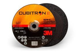 3M™ Cubitron™ II Depressed Center Grinding Wheel, 64316, T27, 9 in x 1/4 in x 7/8 in