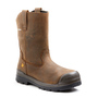 TERRA Size 13 Brown Harrier Leather Composite Toe Safety Boots With High Traction, Anti F.O.D. Slip Resistant Rubber Outsole