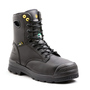 TERRA Size 13 Black Paladin Leather Composite Toe Metguard Boots With High Traction, Anti F.O.D. Slip Resistant Rubber Outsole