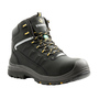 TERRA Size 14 Black Findlay Leather Composite Toe Safety Boots With High Traction, Slip Resistant Rubber Outsole