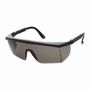 RADNOR® Retro Black Safety Glasses With Gray Polycarbonate Anti-Scratch Lens And Integrated Sideshields (Lead time for this product may be longer than normal.)