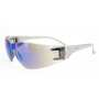 RADNOR® Classic Blue Frameless Safety Glasses With Blue Polycarbonate Mirror/Anti-Scratch Lens (Lead time for this product may be longer than normal.)