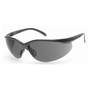 RADNOR® Motion Black Safety Glasses With Gray Polycarbonate Anti-Scratch Lens (Lead time for this product may be longer than normal.)
