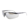 RADNOR® Motion Black Safety Glasses With Silver Polycarbonate Mirror/Anti-Scratch Lens (Lead time for this product may be longer than normal.)