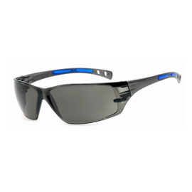 RADNOR® Cobalt Classic Gray Frameless Safety Glasses With Gray Polycarbonate Anti-Scratch Lens And Flexible Cushioned Temples (Lead time for this product may be longer than normal.)