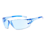 RADNOR® Cobalt Classic Blue Frameless Safety Glasses With Blue Polycarbonate Anti-Scratch Lens And Flexible Cushioned Temples (Lead time for this product may be longer than normal.)
