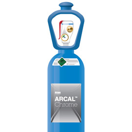 ARCAL™ Chrome Shielding Gas Mixture 2% Carbon Dioxide, Balance Argon, Size 300 High Pressure Steel Cylinder with SMARTOP™, CGA-580