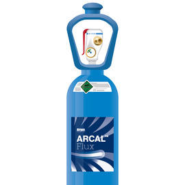 Airgas® ARCAL™ Flux Shielding Gas Mixture 25 % Carbon Dioxide Balance Argon, Size 300 High Pressure Steel SMARTOP™ Cylinder, CGA-580