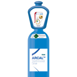 ARCAL™ M12 He5 N Shielding Gas Mixture 1.7% Nitrogen, 1.8% Carbon Dioxide, 5% Helium, Balance Argon, Size 300 High Pressure Steel Cylinder with SMARTOP™, CGA-580