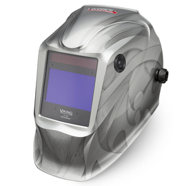 Lincoln Electric® VIKING® 2450 Silver Welding Helmet With Variable Shades 5 - 13 Auto Darkening Lens, 4C® Lens Technology And Heavy Metal® Graphic