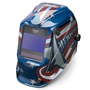 Lincoln Electric® VIKING® 2450 Red/White/Blue Welding Helmet With Variable Shades 5 - 13 Auto Darkening Lens, 4C® Lens Technology And All American® Graphic