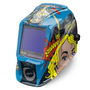 Lincoln Electric® VIKING® 3350 Blue/Black/Yellow Welding Helmet With Variable Shades 5 - 13 Auto Darkening Lens, 4C® Lens Technology And Jessi VS The Robot® Graphic