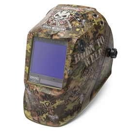 Lincoln Electric® VIKING® 3350 Camouflage Welding Helmet With Variable Shades 5 - 13 Auto Darkening Lens, 4C® Lens Technology And Born To Weld™ Graphic