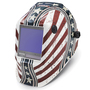 Lincoln Electric® VIKING® 3350 Red/White/Blue Welding Helmet With Variable Shades 5 - 13 Auto Darkening Lens, 4C® Lens Technology And Daredevil™ Graphic