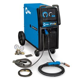 Miller® Millermatic® 212 Auto-Set™ MIG Welder 200/208/230Volt With M-25 MIG Gun With 15' Leads, Regulator And Hose, 7' Power Cord With Plug