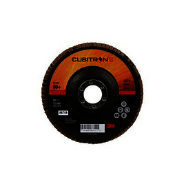3M™ Cubitron™ II Flap Disc 967A, T27, 5 in x 7/8 in, 80+ Y-weight