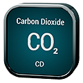 Stylized icon for Carbon Dioxide