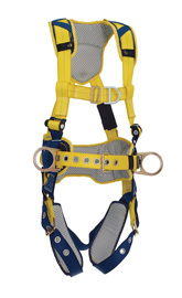 3M™ DBI-SALA® X-Large Delta™ Construction Style Positioning/Climbing Harness With Back, Front And Side D-Rings, Belt With Pad, Tongue Buckle Leg Straps And Comfort Padding