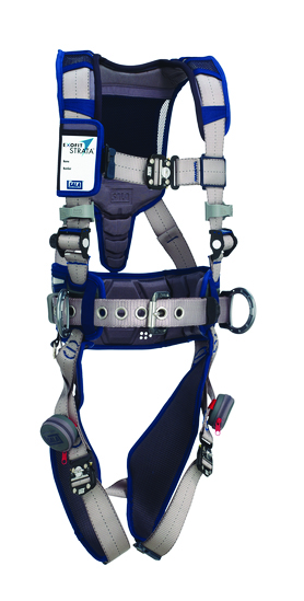 3M™ DBI-SALA® Large ExoFit STRATA™ Construction Style Harness With Aluminum Back And Side D-rings, Duo-Lok™ Quik Connect Buckles, Waist Pad And Belt