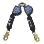 3M™ DBI-SALA® 8' Nano-Lok™ Arc Flash Quick Connect Twin-Leg Self Retracting Lanyard With Kevlar® Webbing And Steel Snap Hooks And Quick Connector For Harness Mounting
