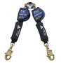 3M™ DBI-SALA® 8' Nano-Lok™ Arc Flash Quick Connect Twin-Leg Self Retracting Lanyard With Kevlar® Webbing Steel Swiveling Snap Hooks And Quick Connector For Harness Mounting