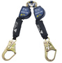 3M™ DBI-SALA® 8' Nano-Lok™ Arc Flash Quick Connect Twin-Leg Self Retracting Lanyard With Kevlar® Webbing Steel Rebar Hooks And Quick Connector For Harness Mounting