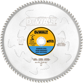 "DEWALT® 14"" X 1"" X .085"" 1800 RPM 90T Carbide Circular Saw Blade (For Stainless Steel Metal Cutting) | Tuggl"
