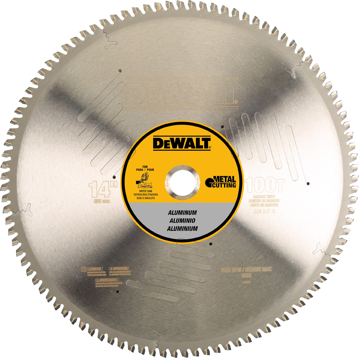 Airgas dewdwa7889 dewalt 14 100t carbide circular saw blade dewalt 14 greentooth Choice Image