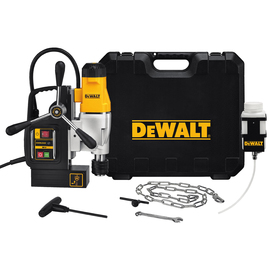 A DEWALT band saw over a solid white background.