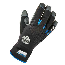 Ergodyne 2X Black ProFlex® 817WP Leather Thinsulate™ Lined Cold Weather Gloves