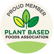 Badge graphic for being a proud partner of the Plant Based Foods Association.