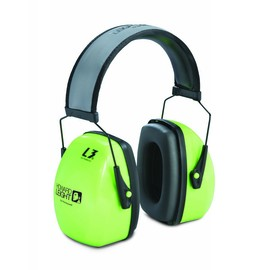 Honeywell Howard Leight Leightning® L3HV Hi-Viz Green Over-The-Head Steel Headband Air Flow Control™ Earmuffs With Reflective Headband And Snap-In Ear Cushions