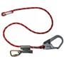 Miller® 6' Kernmantle Rope Positioning Lanyard With Captive Eye Carabiner Harness Connector And Rope Grab