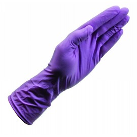 Honeywell Large Purple PowerCoat® 5 mil Latex/Neoprene/Nitrile Powder-Free Disposable Gloves (100 Per Box)