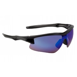 Honeywell Uvex Acadia™ Black Safety Glasses With Blue Mirror Anti-Scratch Lens