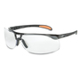 Honeywell Uvex Protege® Gloss Black Safety Glasses With Clear Anti-Scratch/Hard Coat Lens