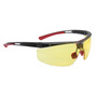 Honeywell North Adaptec® Narrow Black Safety Glasses With Amber Anti Fog HydroShield® Lens