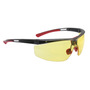 Honeywell North Adaptec® Wide Black Safety Glasses With Amber Anti Fog HydroShield® Lens