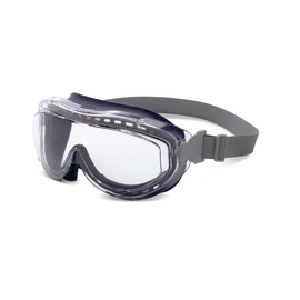 Honeywell Uvex Flex Seal® Indirect Vent Over The Glasses Goggles With Blue Low Profile Frame And Clear Uvextreme® Anti-Fog Lens on white background