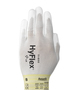 Ansell X-Small HyFlex® Light Weight Polyurethane Work Gloves With White Nylon Liner And Elastic/Knit Wrist