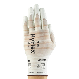 Ansell Size 10 White HyFlex® Foam Nitrile Nylon And Spandex Work Gloves With Knit Wrist