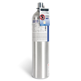 Industrial Scientific 5PPM Sulfur Dioxide, 25PPM Hydrogen Sulfide, 100PPM Carbon Monoxide, 18% Oxygen Balance Nitrogen Portable Calibration Gas, 116 Liter Disposable Cylinder, CGA-C10