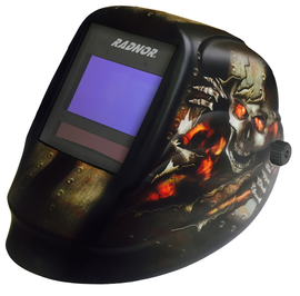 RADNOR® LITE 60 Black/Orange Welding Helmet With 5