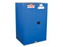 Justrite® 90 Gallon Royal Blue Sure-Grip® 18 Gauge CR Steel Hazardous Material Safety Cabinet With (2) Adjustable Shelves And (2) Self-Closing Doors
