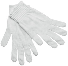 Memphis Glove White Small 7 Gauge Polyester String Knit Work Gloves With Knit Wrist