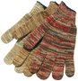 Memphis Glove Multi-Color Large 7 Gauge Cotton And Polyester String Knit Work Gloves With Knit Wrist