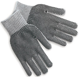 Memphis Glove Gray Large 7 Gauge Cotton And Polyester String Knit Work Gloves With Knit Wrist