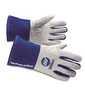 Miller® Large White And Blue Premium Goatskin And Split Cowhide Unlined TIG Welders Gloves