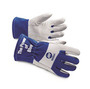 Miller® Large White And Blue Goatskin And Split Cowhide Wool Back Lined TIG/Multi-Task Welders Gloves
