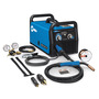 Miller® Millermatic® 211 MIG Welder, 110 - 240 Volt 150 Amps 21.5 Volts At 40% Duty Cycle (240 V), 115 Amps 19.8 Volts At 20% Duty Cycle (120 V) 240 1 Phase 38 lb